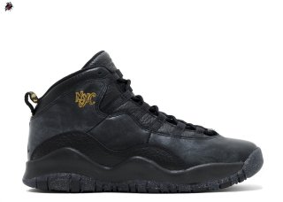 "Air Jordan 10 Retro Bg (Gs) ""Nyc"" Noir Or (310806-012)"