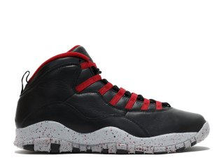 "Air Jordan 10 Retro ""Psny"" Noir Gris Rouge (537687-aj10)"