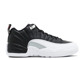 "Air Jordan 12 Reto Low (Gs) ""Playoff"" Noir Blanc (308305-004)"