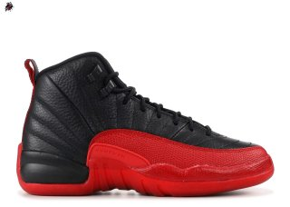 "Air Jordan 12 Retro (Gs) ""Flu Game 2016 Release"" Noir Rouge (153265-002)"