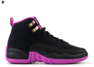 "Air Jordan 12 Retro (Gs) ""Kings"" Noir Rose (510815-018)"