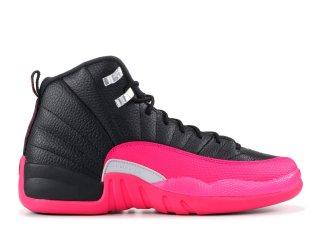 Air Jordan 12 Retro (Gs) Noir Rose (510815-026)