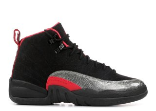 Air Jordan 12 Retro (Gs) Noir Rouge Gris (510815-008)