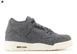 "Air Jordan 3 Retro Bg (Gs) ""Wool"" Gris (861427-004)"