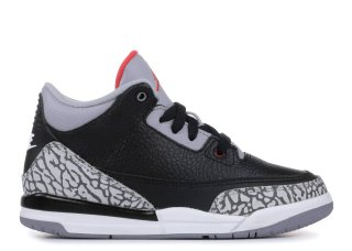 "Air Jordan 3 Retro Bp ""Black Cement"" Noir Gris (429487-021)"