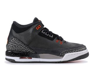 "Air Jordan 3 Retro (Gs) ""Fear"" Noir Orange (626968-040)"