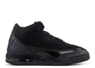 "Air Jordan 3 Retro (Gs) ""Noir Cat"" Noir (834014-002)"