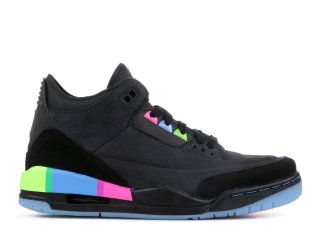 "Air Jordan 3 Retro Se Q54 (Gs) ""Quai54"" Noir Vert (at9194-001)"