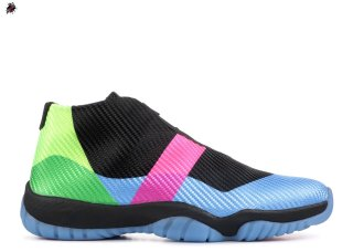 "Air Jordan Future Q54 ""Quai 54"" Noir Bleu (at9191-001)"