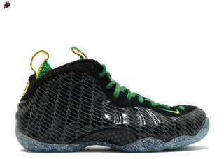 "Nike Air Foamposite One Prm Uo Qs ""Oregon Ducks"" Noir Vert Jaune (652110-001)"