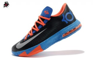 "Nike KD VI 6 ""Okc Away"" Noir Orange Bleu (599424-004)"