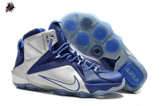 "Nike Lebron XII 12 ""Cowboys"" ""What If"" Bleu Métallique Argent"