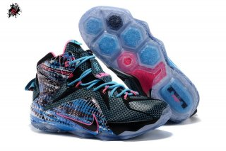 "Nike Lebron XII 12 ""South Beach"" Noir Bleu Rose"