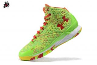 Under Armour Curry 1 Camo Volt Jaune Rouge