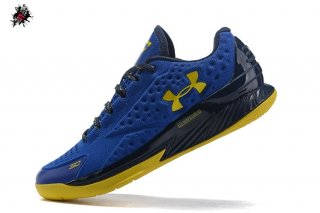 Under Armour Curry 1 Low Bleu Jaune Noir