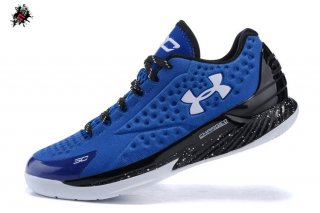Under Armour Curry 1 Low Bleu Noir Blanc