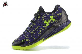 Under Armour Curry 1 Low Camo Pourpre Vert