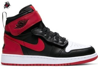 "Air Jordan 1 Flyease (GS) ""Bred White Toe"" Noir Rouge (CT4897-001)"