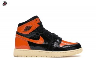 "Air Jordan 1 High Retro (GS) ""Shattered Backboard 3.0"" Noir Orange (575441-028)"