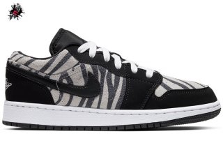 "Air Jordan 1 Low (GS) ""Zebra"" Noir Blanc (553560-057)"