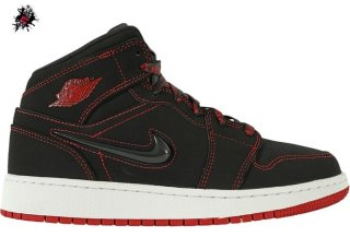 "Air Jordan 1 Mid (GS) Se ""Come Fly With Me"" Noir Rouge (CU6617-062)"