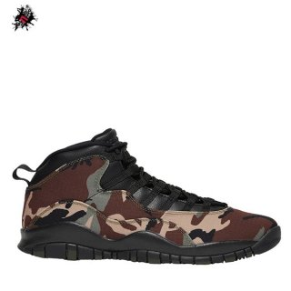 "Air Jordan 10 Retro ""Woodland Camo"" Olive (310805-201)"