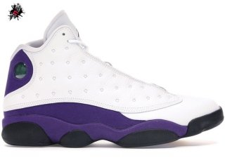 "Air Jordan 13 Retro ""Lakers"" Blanc Pourpre (414571-105)"