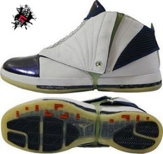 Air Jordan 16 Blanc Pourpre