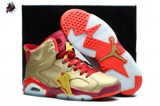 Air Jordan 6 Rouge Or