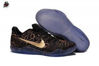 Nike Zoom Kobe 11 Elite Noir Marron Or