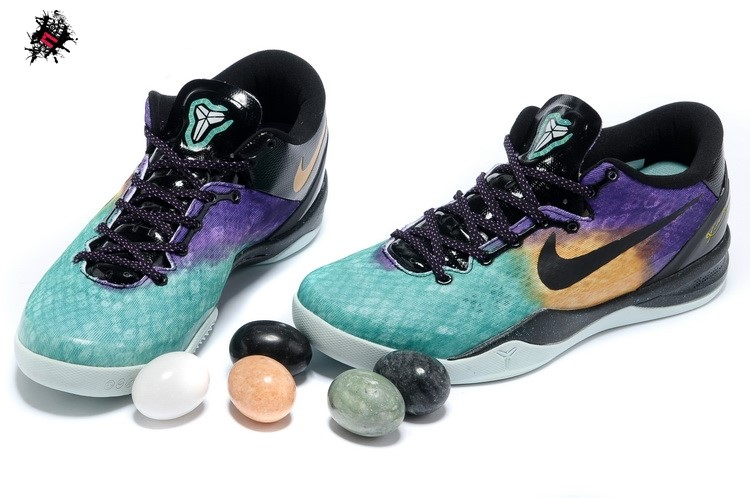 Nike Zoom Kobe 8 Vert Pourpre Orange